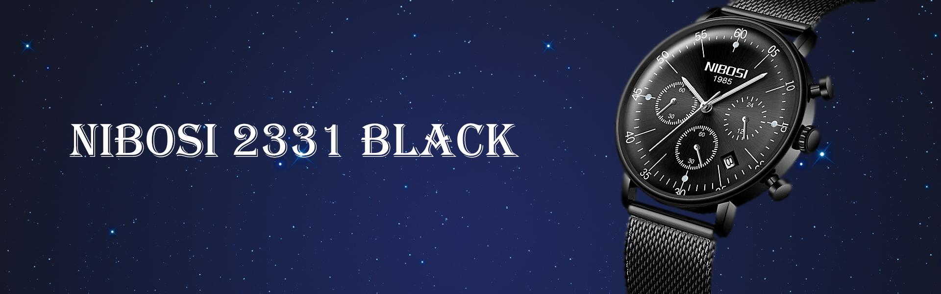 Купити Чоловічий Наручний Годинник (Nibosi 2331 Black) в Україні