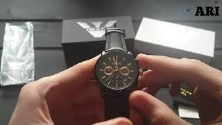 Чоловічий годинник Nibosi 2313 Black з хронографом
